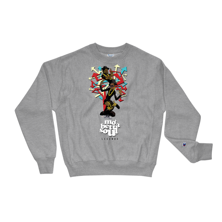 Image of Mo' Betta Soul Legends Series x RUN DMC (Champion Sweatshirt Grey)