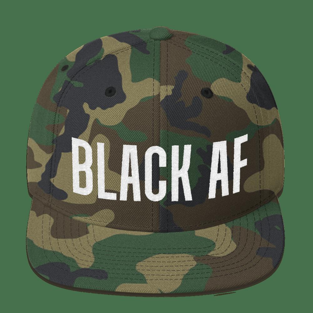 Image of Black AF (camo SnapBack)