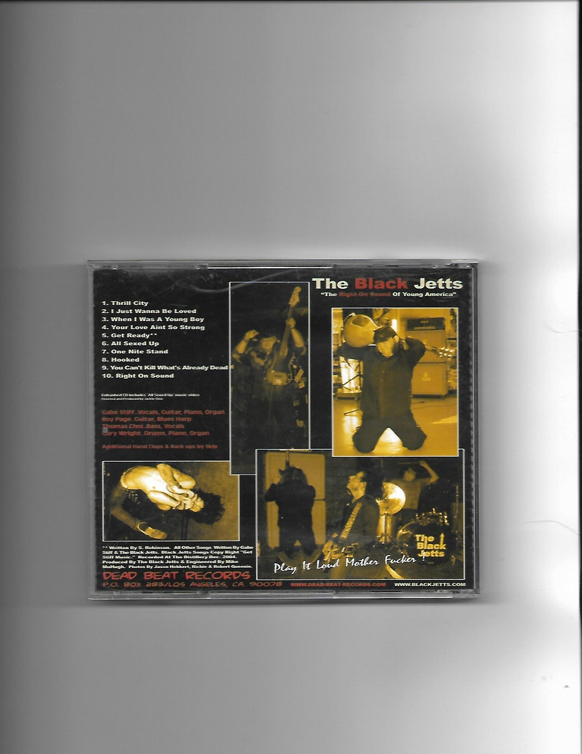 """Image of The Black Jetts """"Right on Sound"""" CD"""
