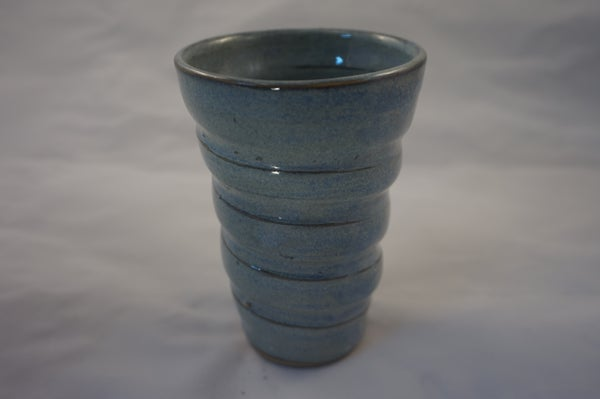 Image of Spiral frosty blue cup