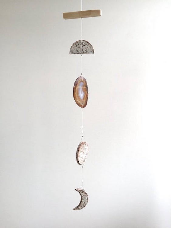 Image of Hanging Moon - Agate #22