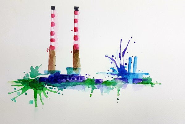 Image of Poolbeg stacks A4 size unframed