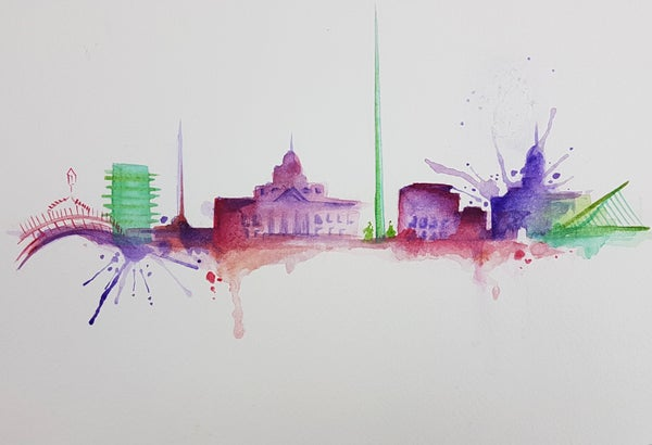 Image of Dublin City unframed A4 size