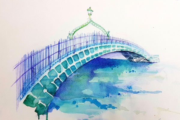 Image of Ha'Penny bridge unframed A4 size