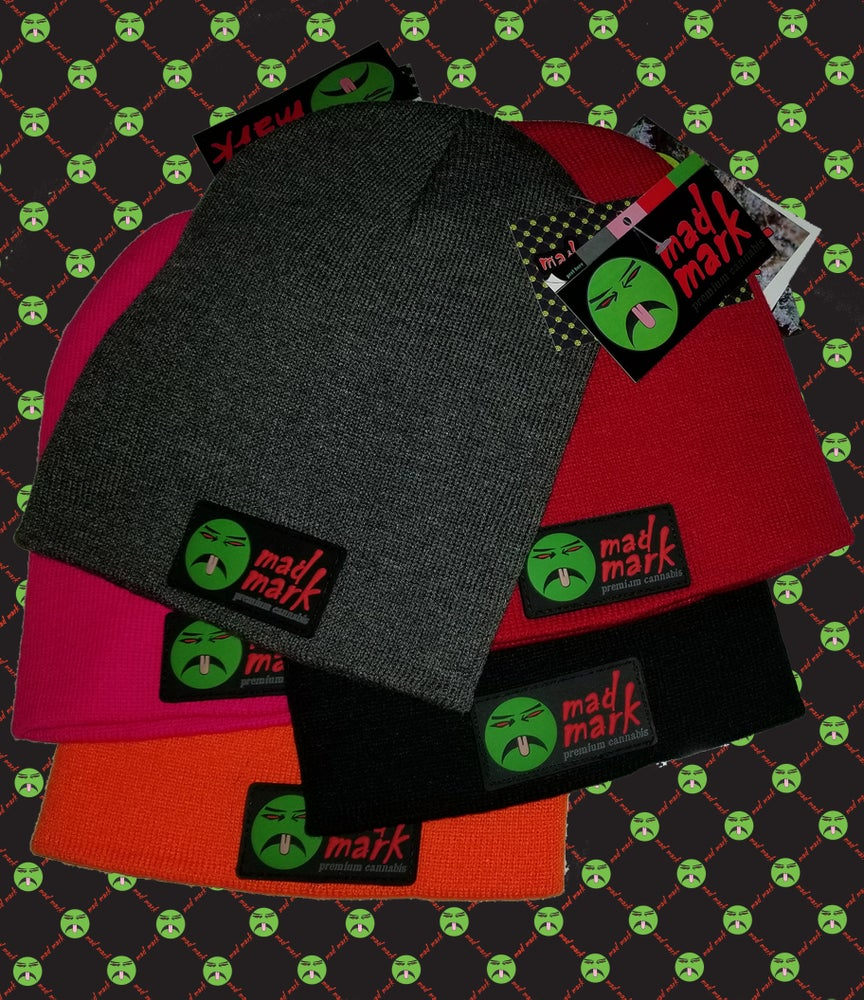 Image of mad mark 3d patch skully beanie