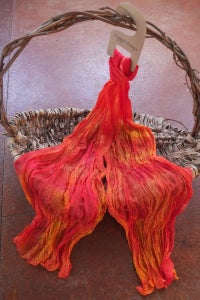 Image of Sunset - Crinkle Silk Pongee Scarf