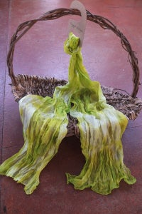Image of Granny Smith - Crinkle Silk Pongee Scarf