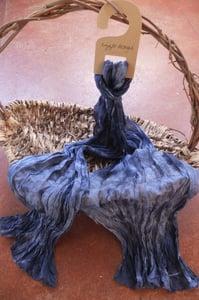Image of Granite - Crinkle Silk Pongee Scarf