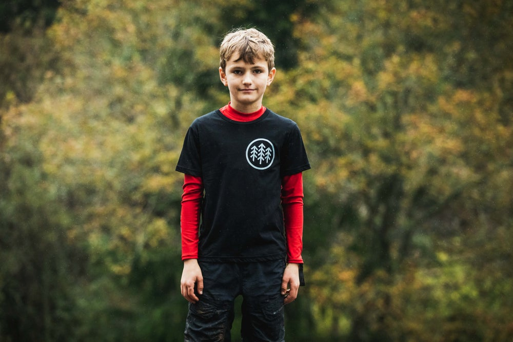 Image of Kids black tee