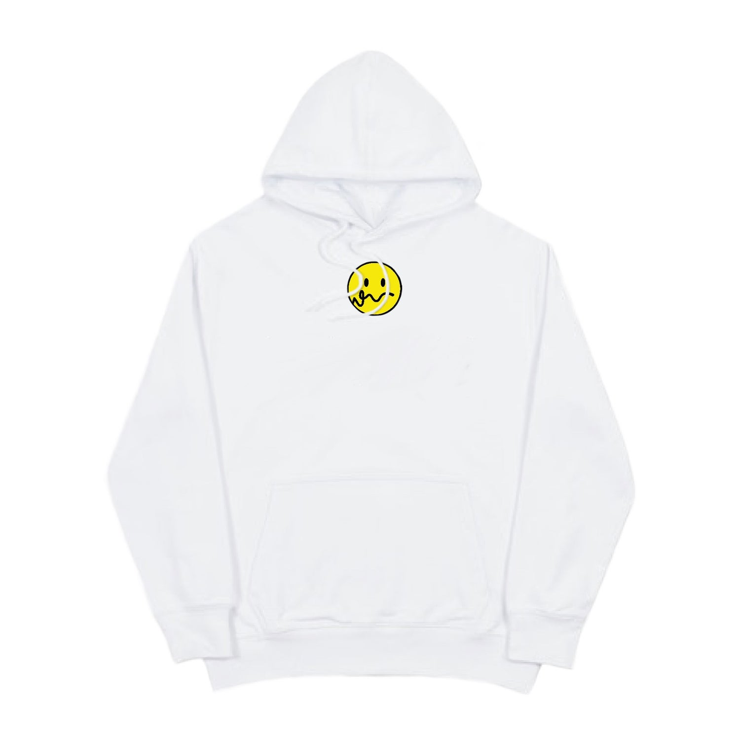 Image of SMILEY WHITE HOODIE