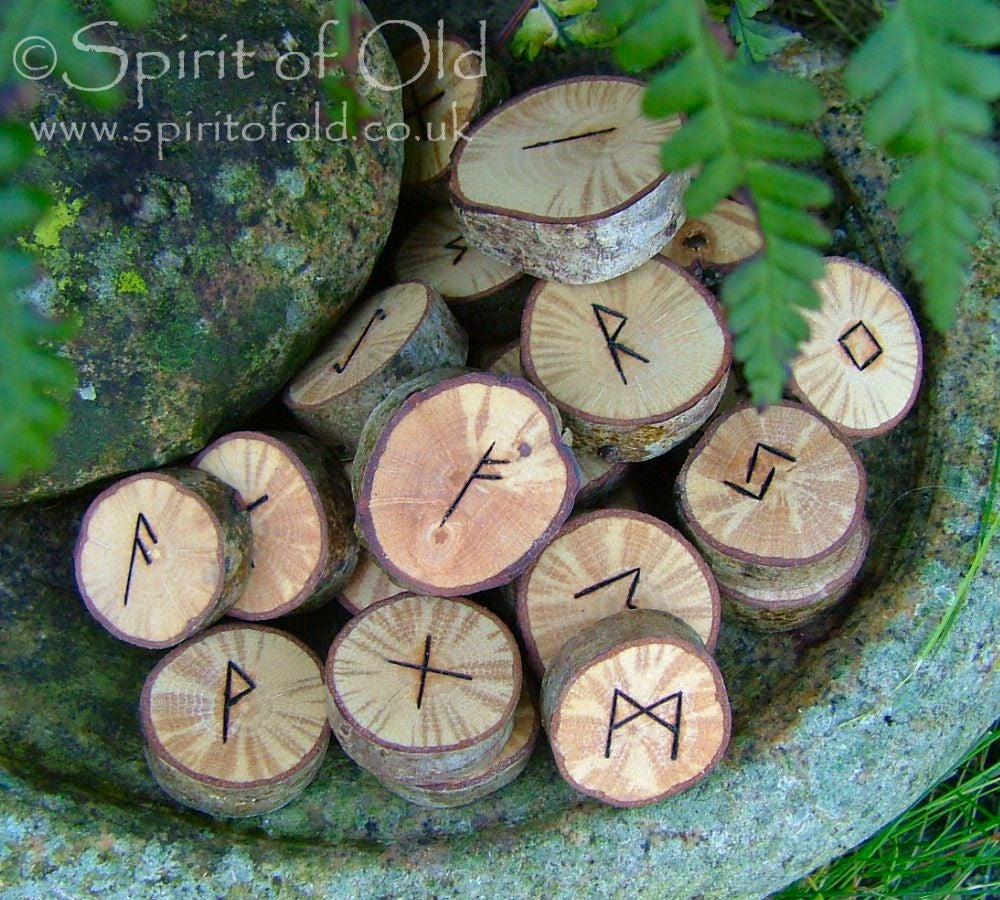 Image of Figured Oak runes (D149)