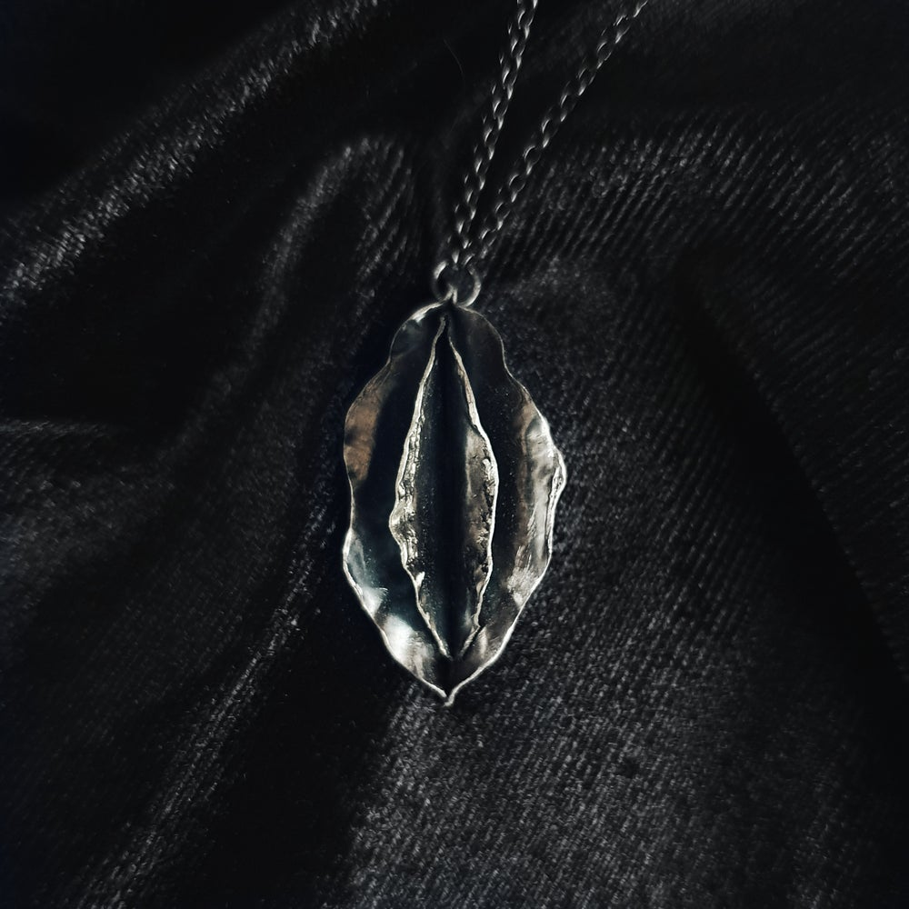 Image of Vulva sterling silver necklace