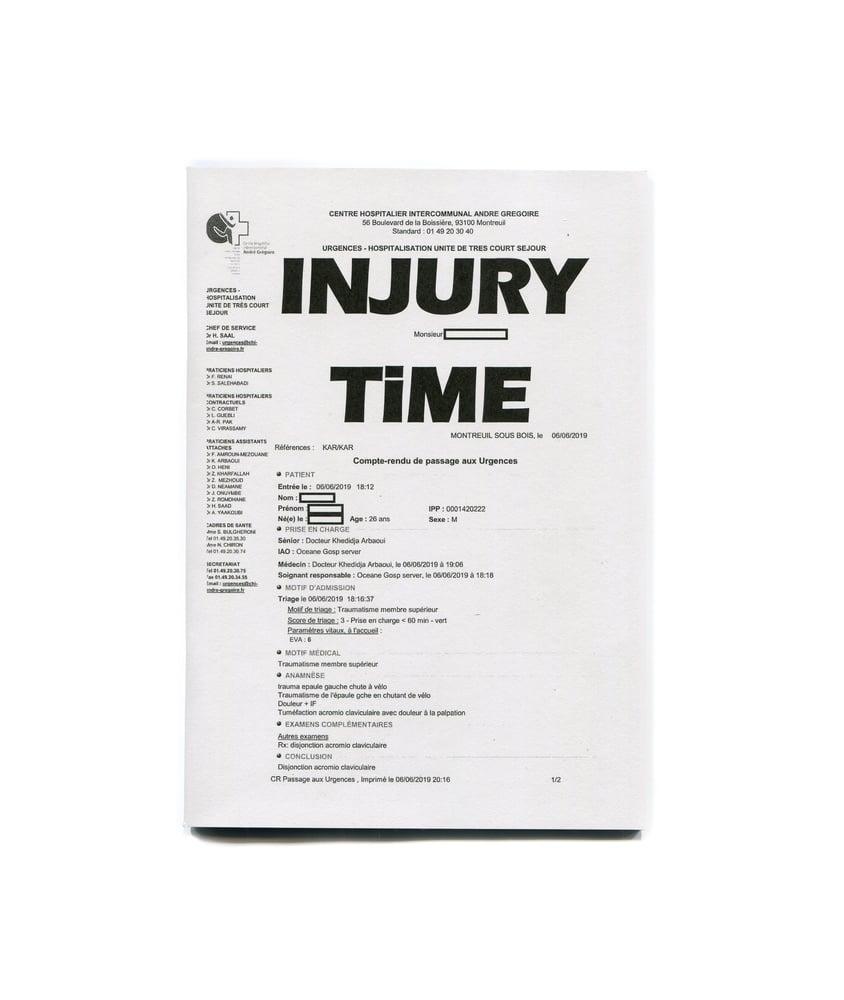 Image of Injury Time Zine - Tim Evans