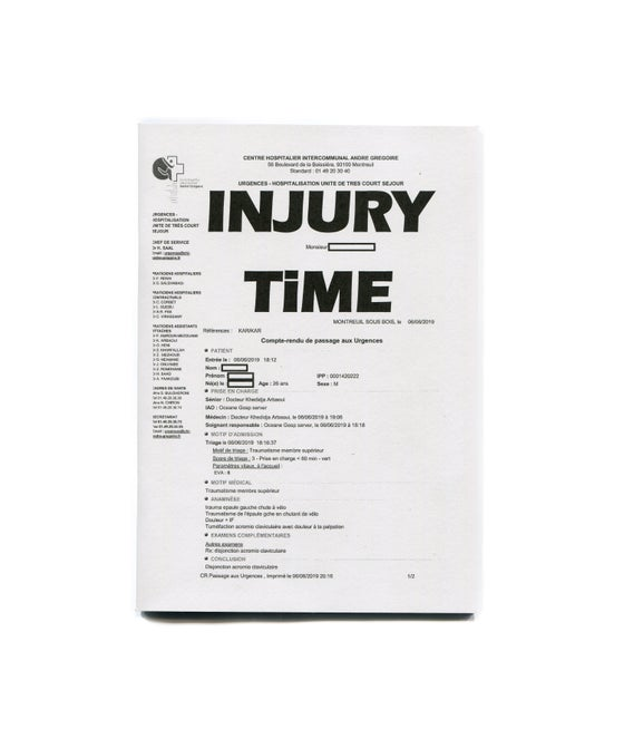 Image of Injury Time Zine - Tim Evans