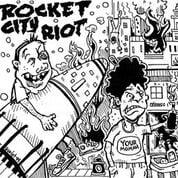 "Image of Rocket City Riot Handmade Lathe Cut 7"" clear vinyl"