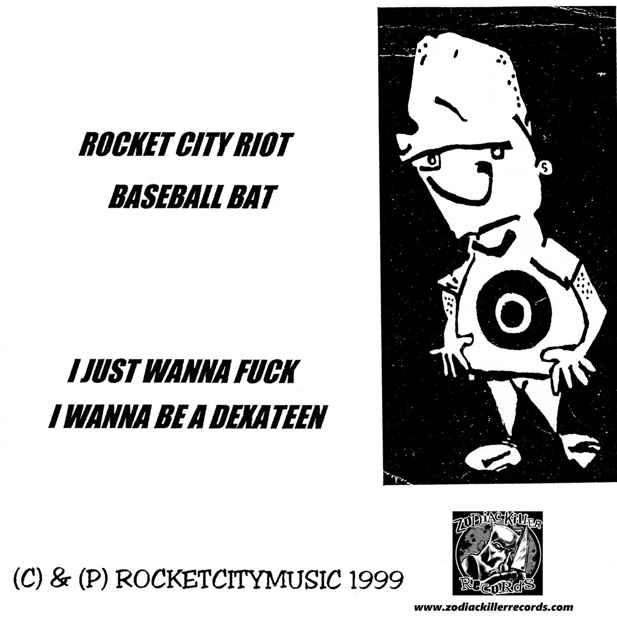 "Image of Rocket City Riot Handmade Lathe Cut 7"" clear vinyl"