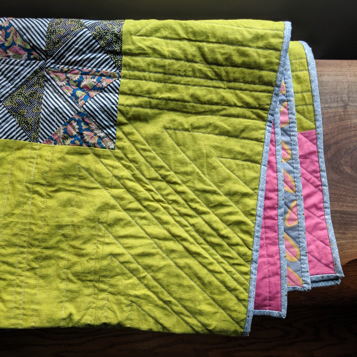Image of Maine Quilt Pink and Green