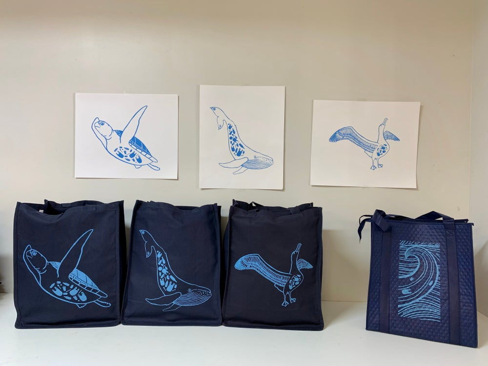 Image of Ocean Cry Grocery bags