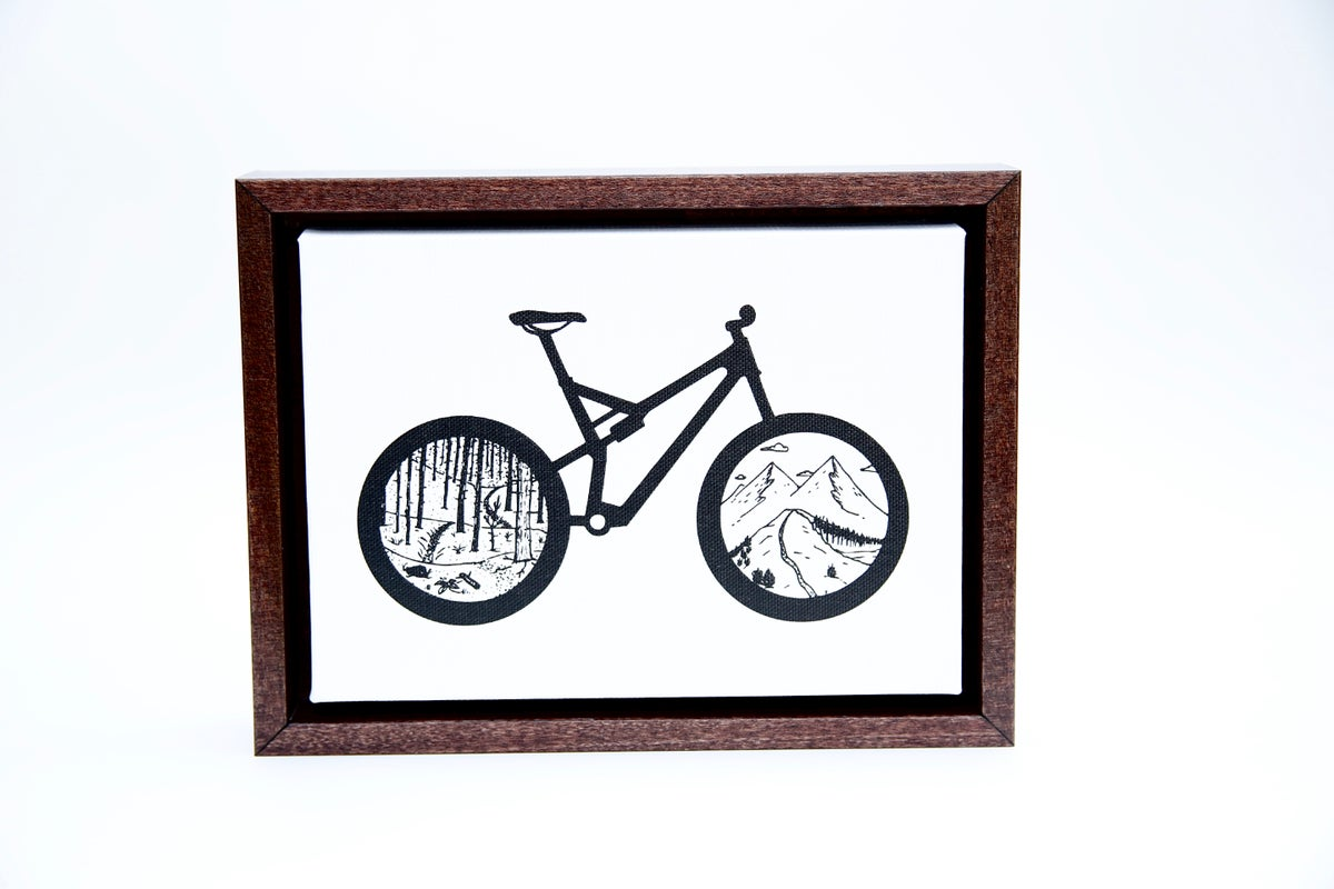 Image of Canvas Wrapped & Framed Mountain Bike