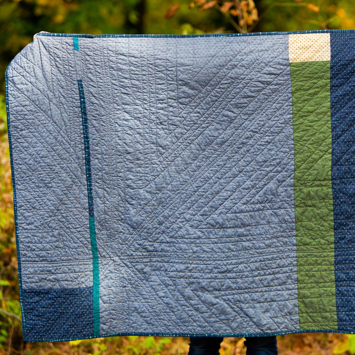 Image of Maine Quilt Blue and Green