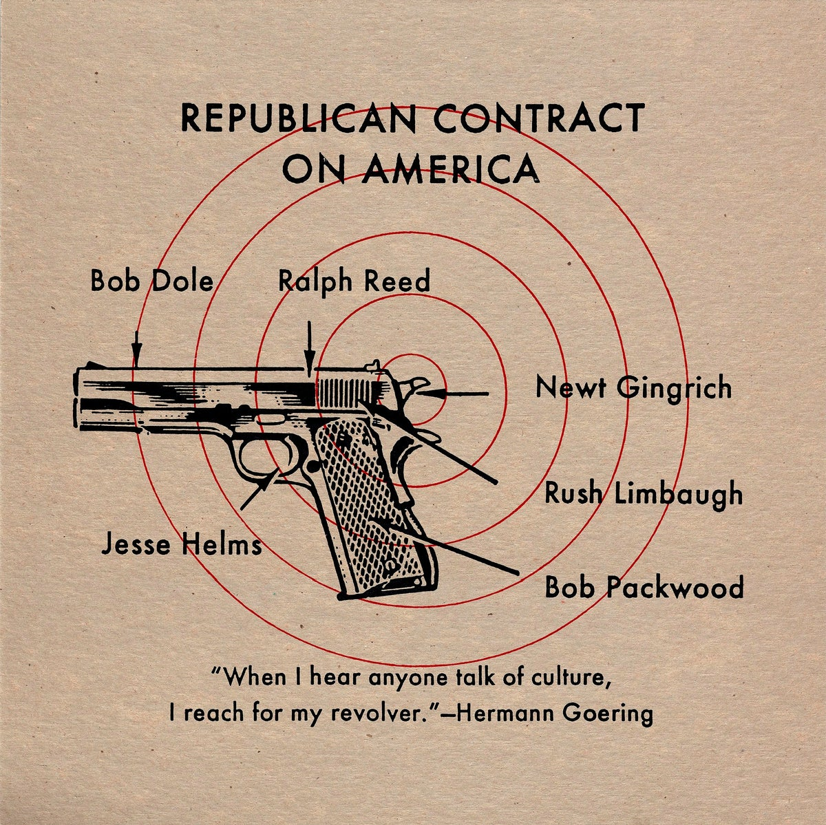 """Image of """"Republican Contract on America"""""""
