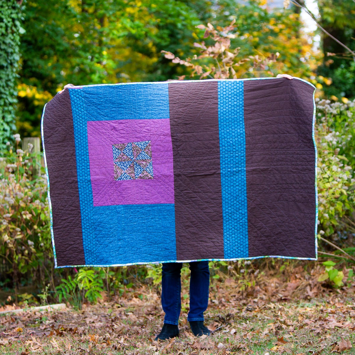 Image of Maine Quilt Purple and Blue