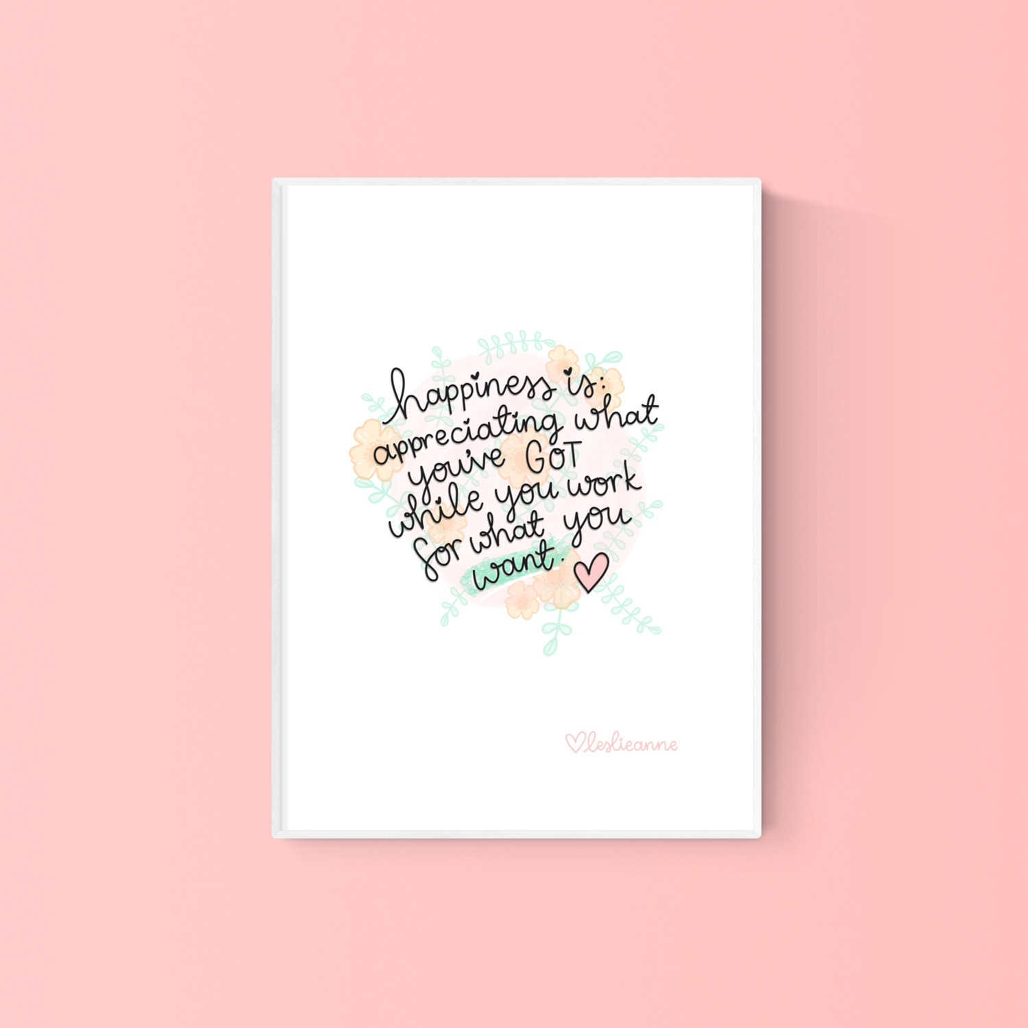 Image of Happiness Is... A5 Art Print