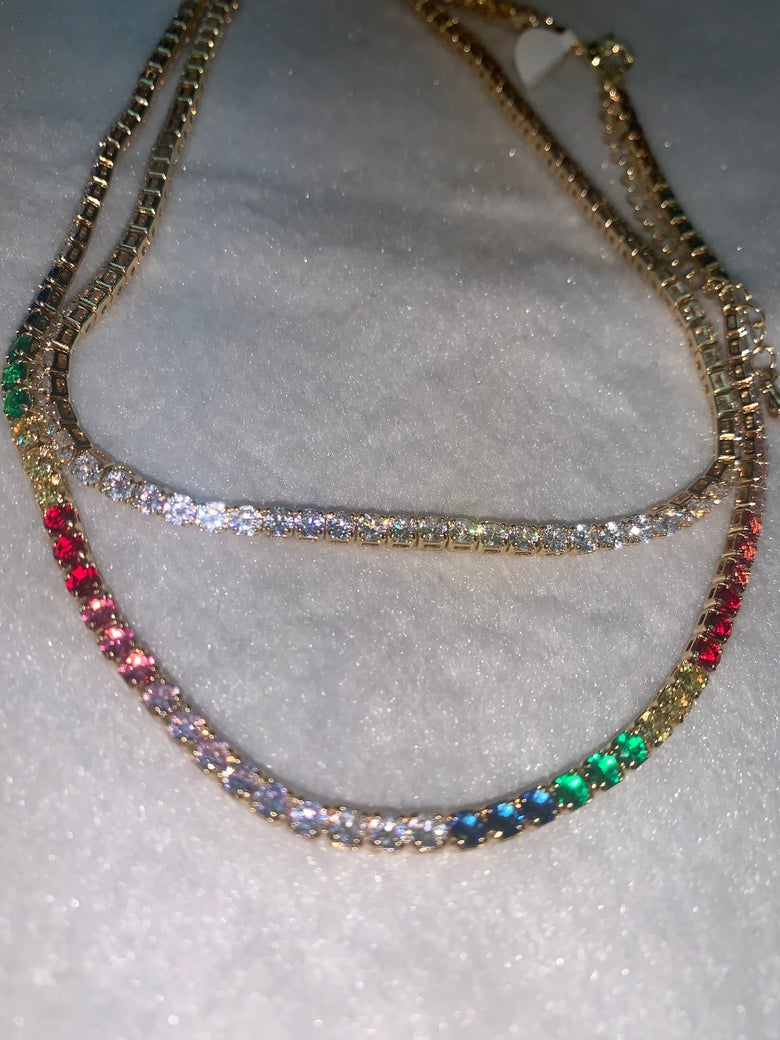 Image of Diamond choker with extension