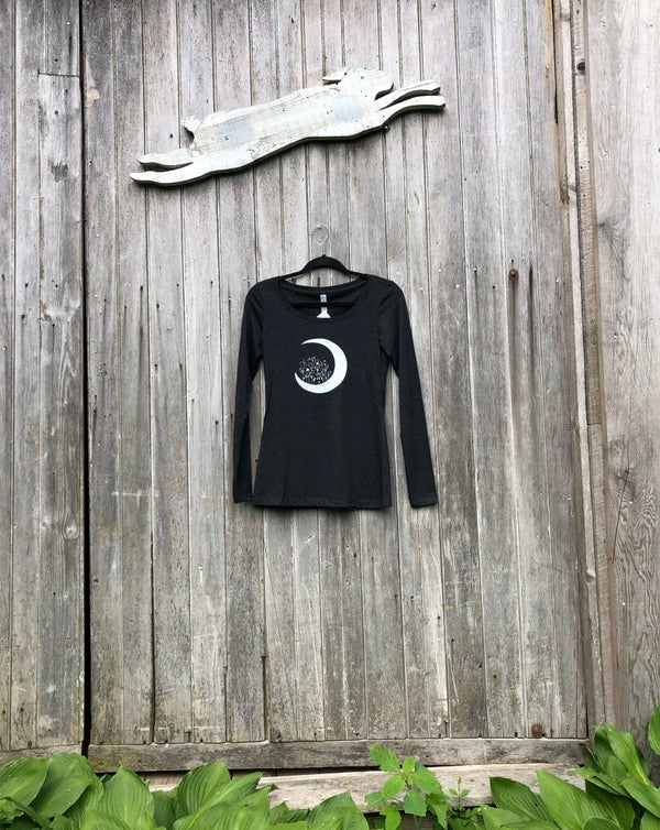 Image of Poppy Moon- women's fitted long sleeve