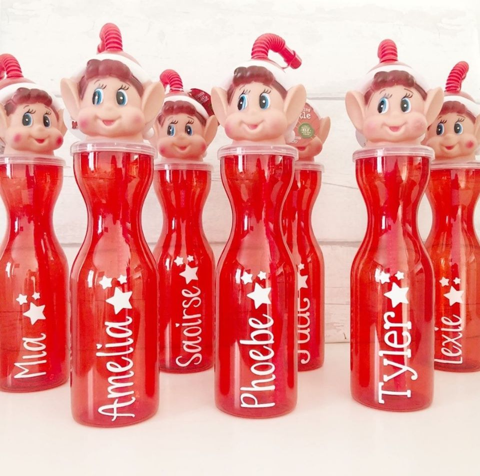 Image of Personalized Elf Water Bottles