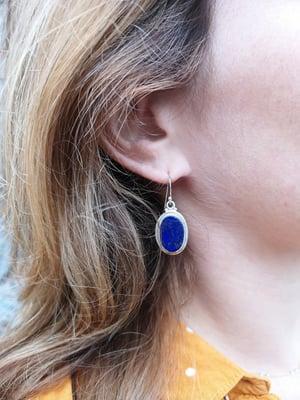 Image of Boucles d'oreilles Lapis Lazuli - ref. 5572