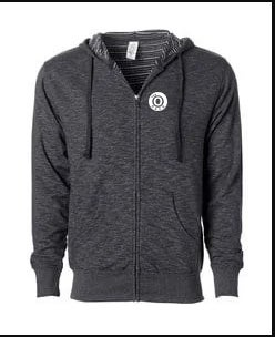 Image of The O Unisex Baja Black Zipper Hoodie