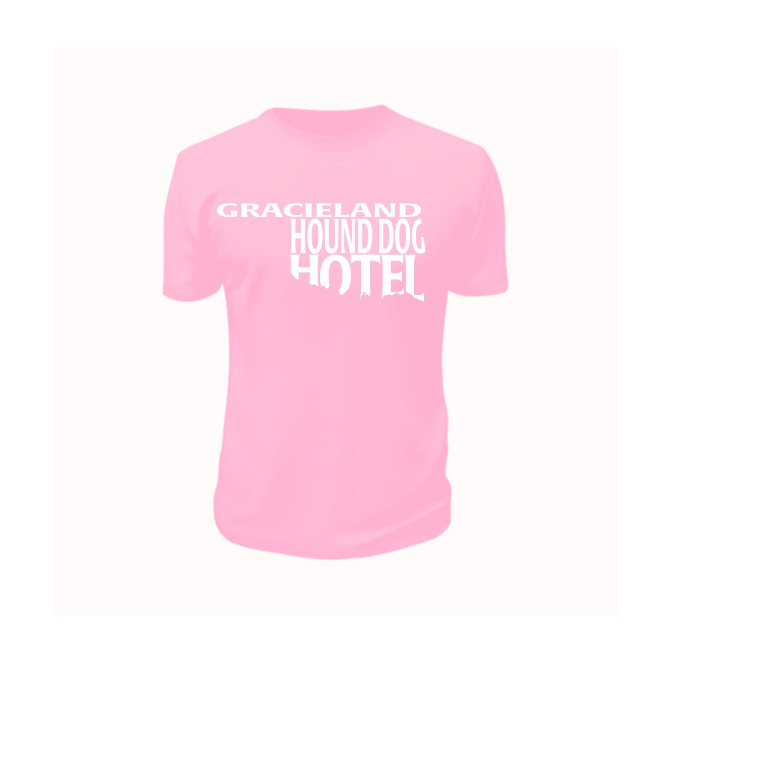 Image of Pink Gracieland Tshirt with White text