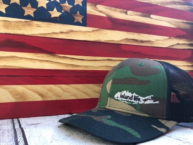 Image of  Island Life Logo SnapBack Trucker Hat - Camo