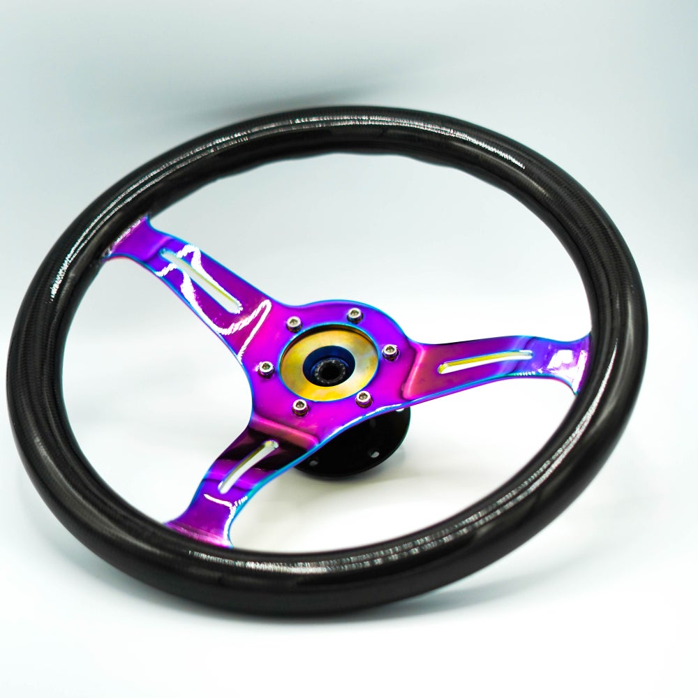 Image of Neo Chrome Carbon Steering Wheel