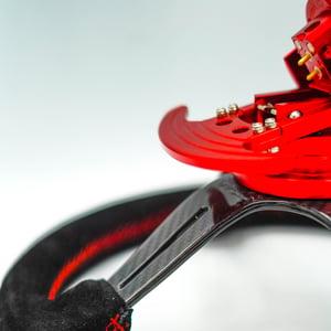 Image of Suede Grip Carbon Steering Wheel