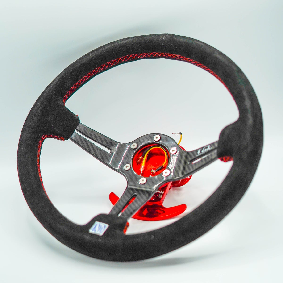 Image of Suede Grip Carbon Steering Wheel