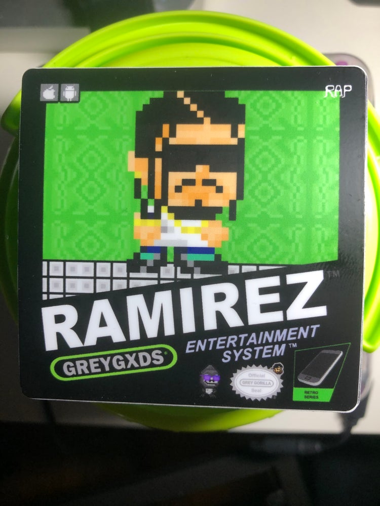 Image of Ramirez Retro Gaming Limited Edition Green Sticker