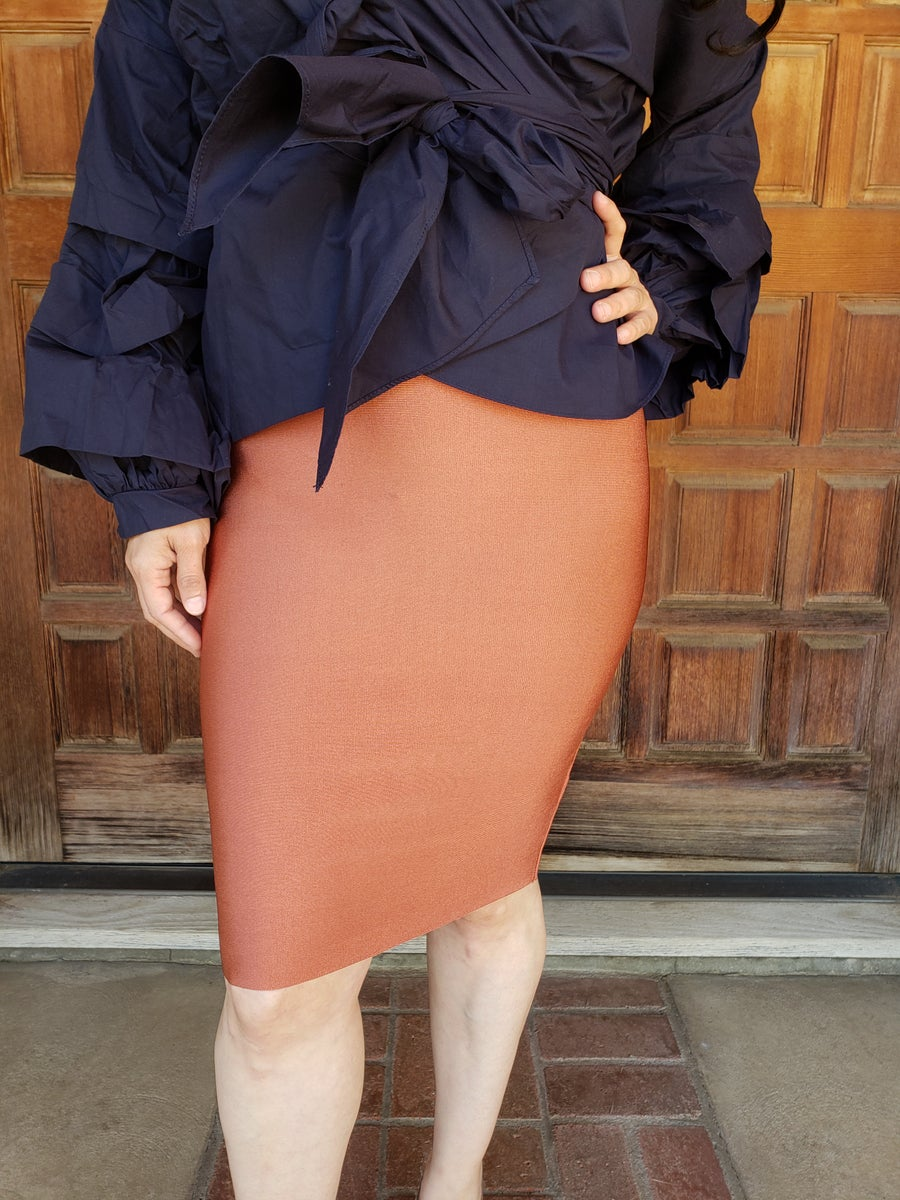 Image of Rust Bandage Skirt
