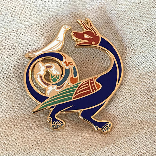 Image of Fine Feathered Friend Pin