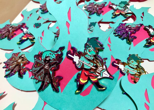 Image of Promare Rainbow Shift Enamel Pins