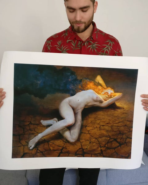 Image of Agony Canvas Limited Edition Print by Miles Johnston - Timed Release / Canvas Edition