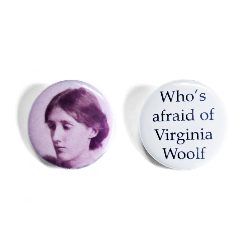 Virginia Woolf Button Badges
