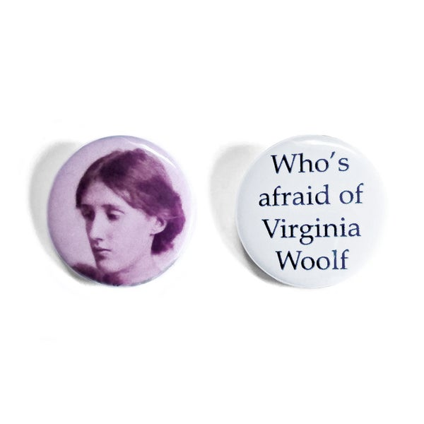 Image of Virginia Woolf Button Badges