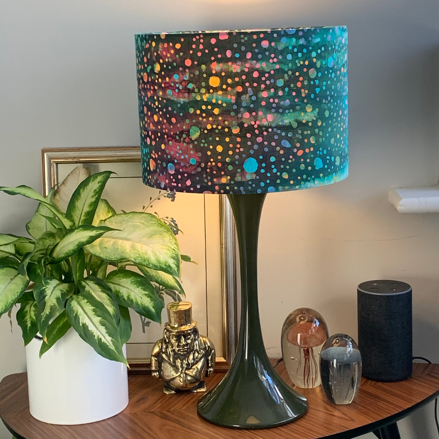 Image of Tiki Batik Dots Teal Shade 30cm