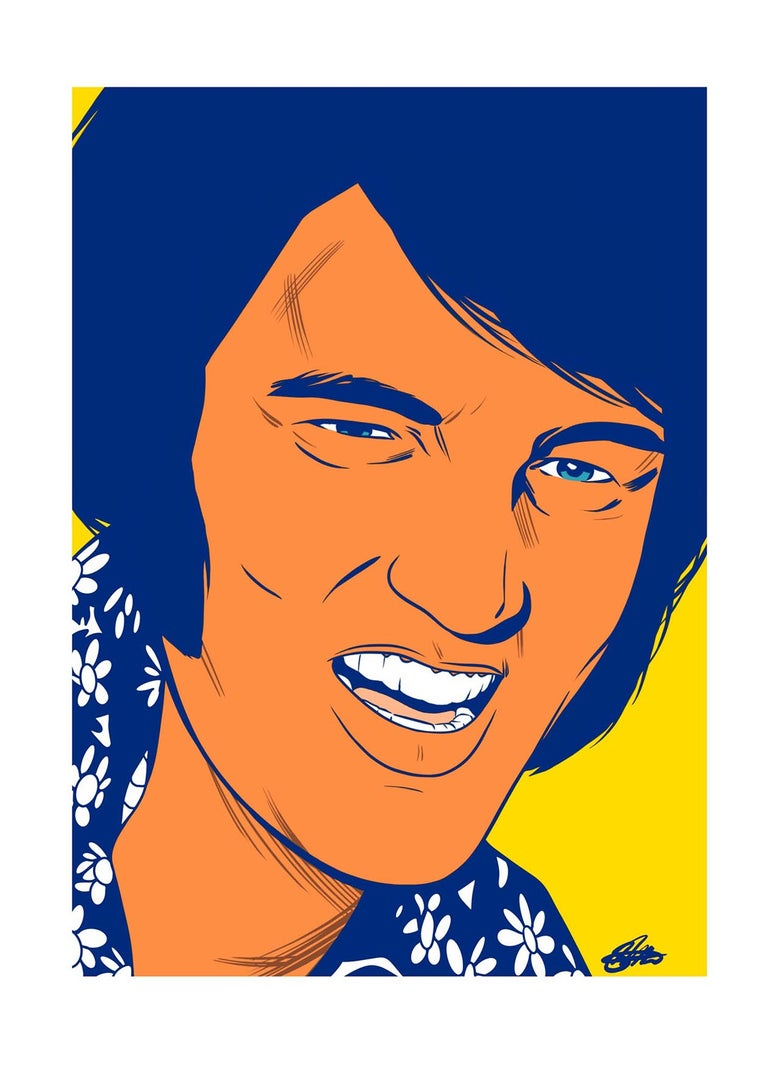 Image of ELVIS PRESLEY SIGNED GICLEE PRINT (16.5 X 11.7 INCH)  LIMITED TO 20