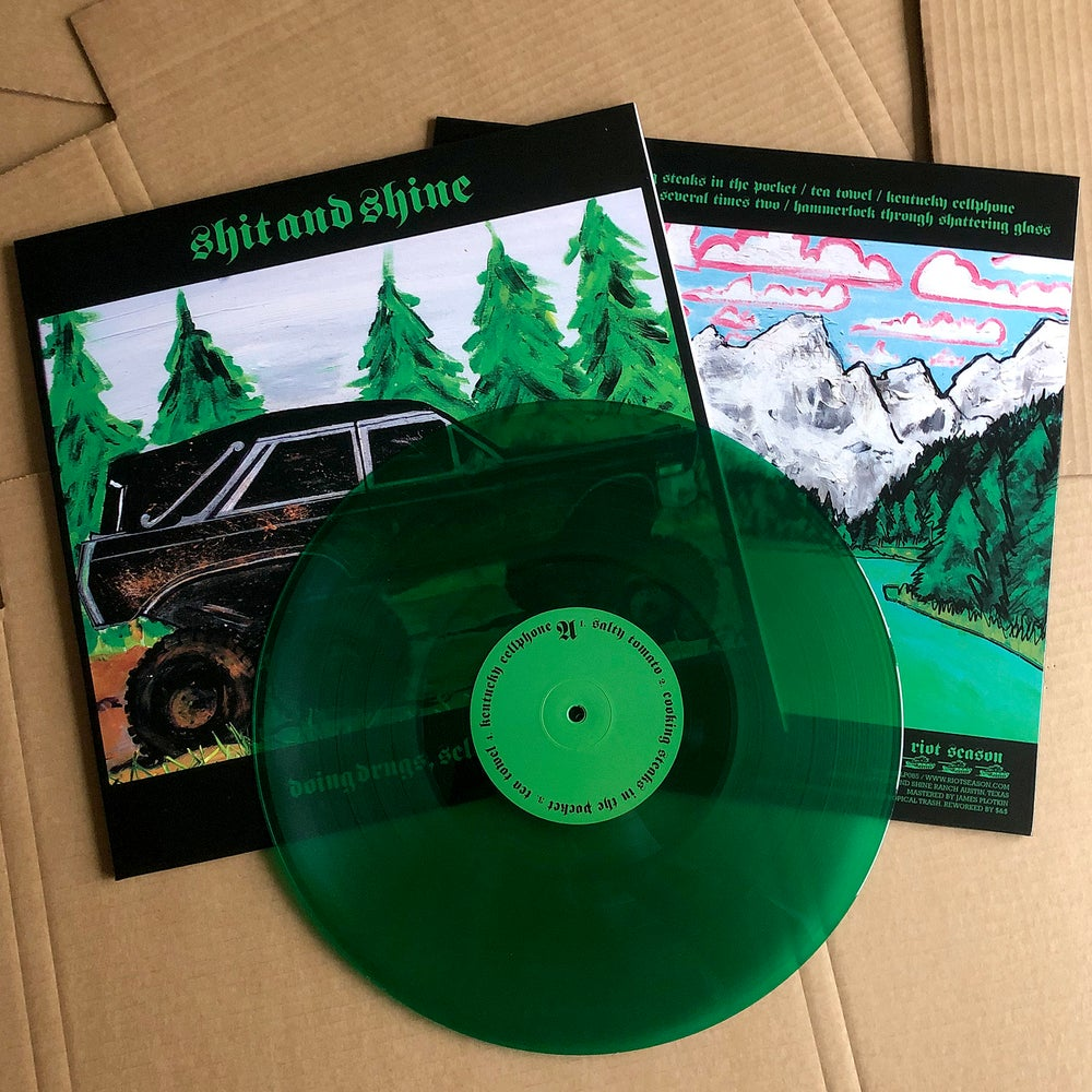 SHIT AND SHINE 'Doing Drugs, Selling Drugs' Green Vinyl LP