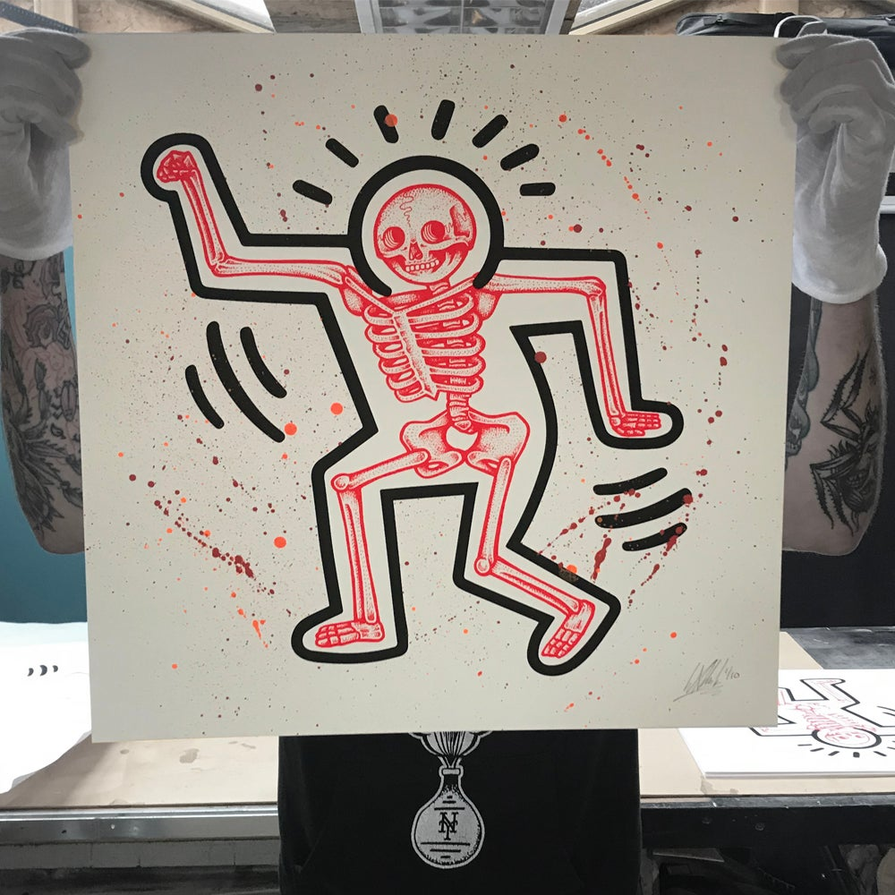 Image of 'Haring Bone' Hand finished edition
