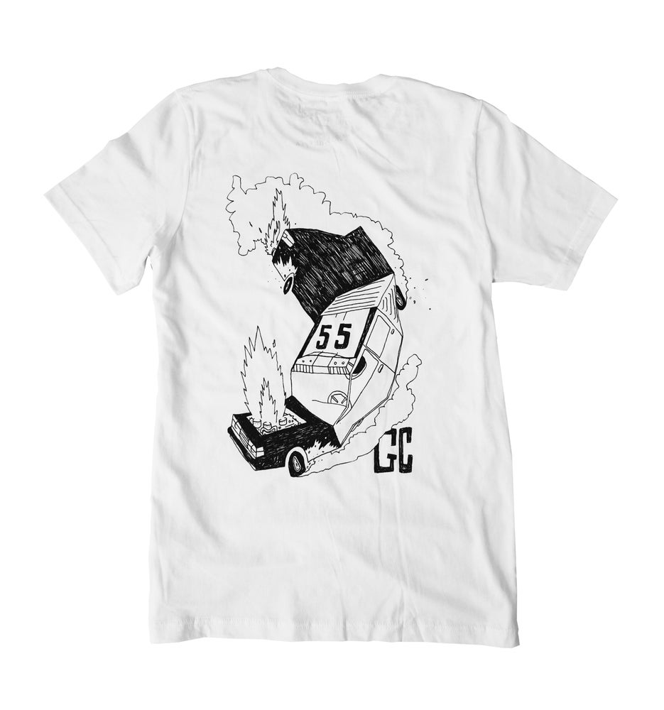 Image of 55GC GOLFERCOP 'Late for my swing' t-shirt