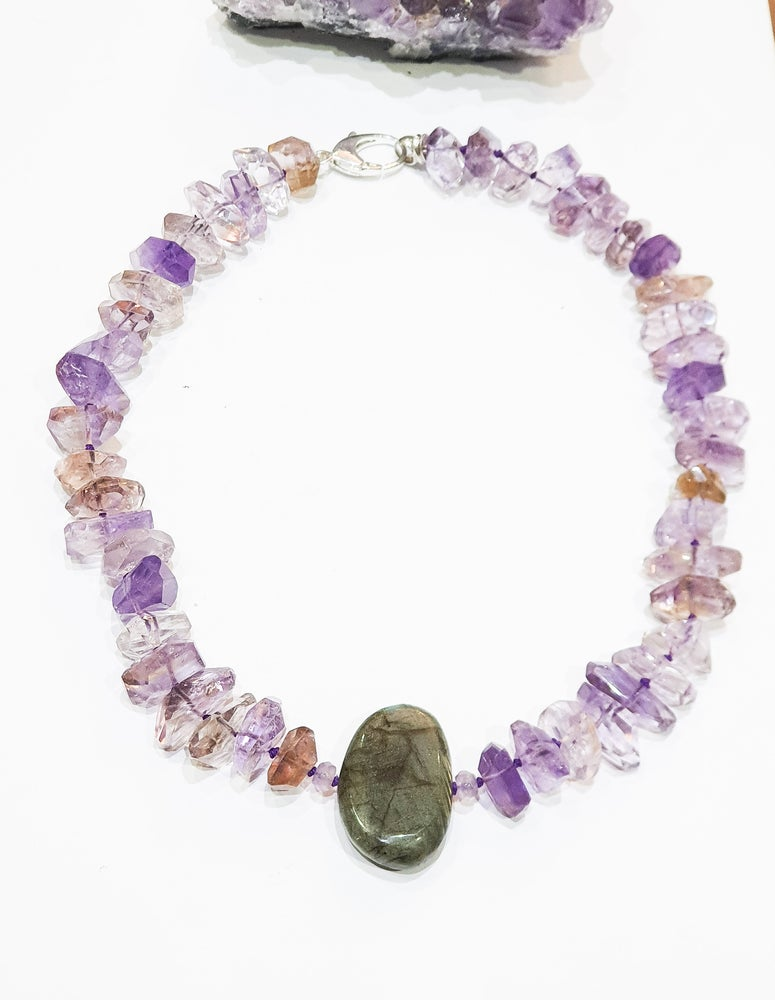 Image of Ametrine and Labradorite Necklace